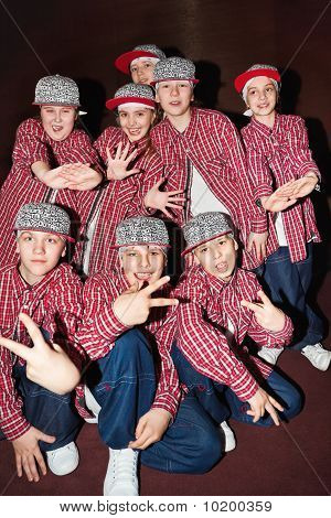Breakdancing Team Umka On Stage During Contest Hip Hop International - Cup Of Russia