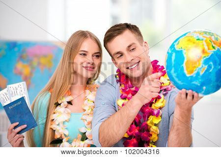 Creative concept for travel couple
