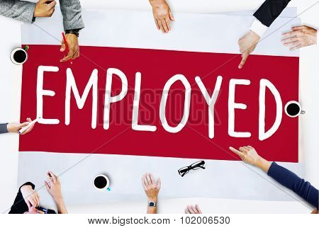 Employment Employed Career Job Hiring Concept poster