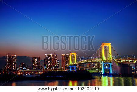 Panoroma of illuminated Tokyo Night lights Concept