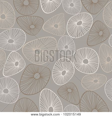 Abstract vector graphic seamless pattern from lines