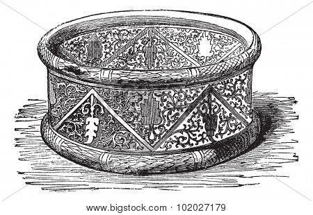 Old engraved illustration of Gallic Bracelet from the Cabinet des Medailles, National Library, France Industrial encyclopedia E.-O. Lami - 1875.