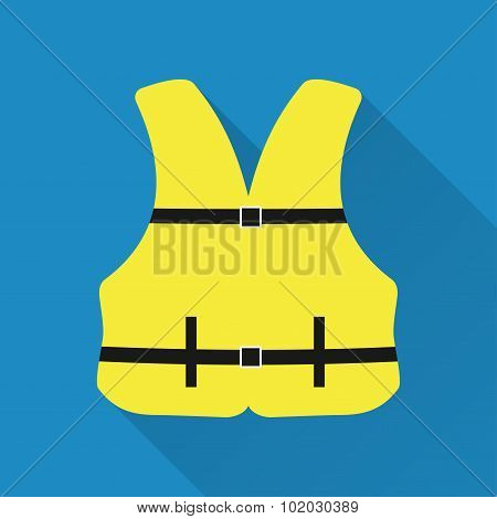 Life jacket .Flat design vector illustration