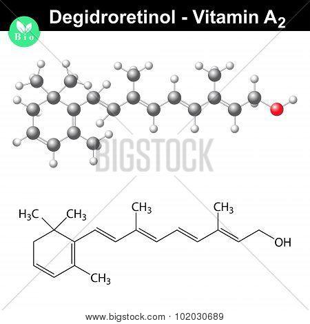 Degidroretinol Structural Formula