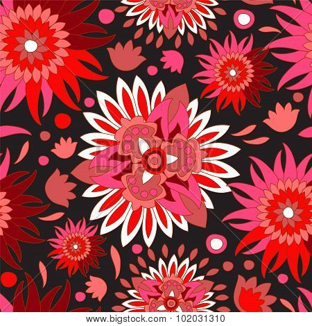 Russia Seamless Floral Pattern.slavs Design. Vector Illustration