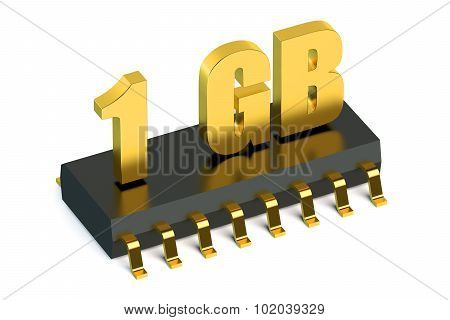 1 Gb Ram Or Rom Memory For Smartphone And Tablet