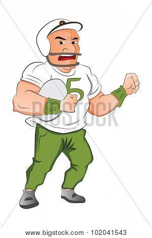 Football Player, vector illustration