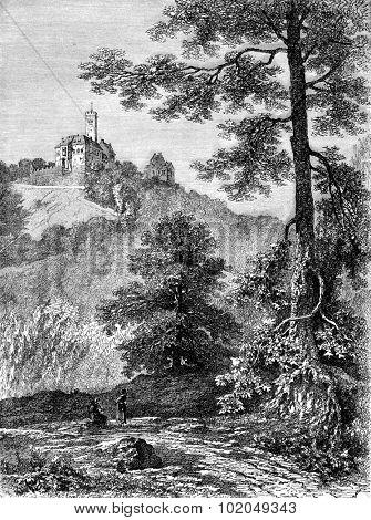 Wartburg, vintage engraved illustration. Le Tour du Monde, Travel Journal, (1872).