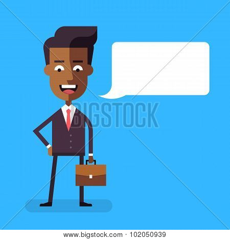 African american businessman with a briefcase.