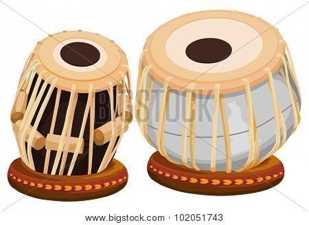 Vector illustration of hand drum.