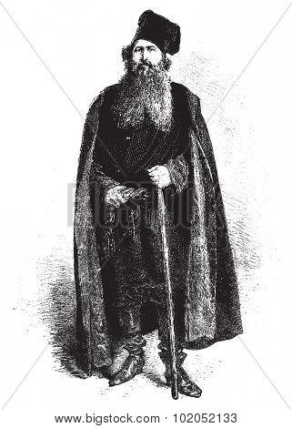 A merchant, vintage engraved illustration. Le Tour du Monde, Travel Journal, (1872).