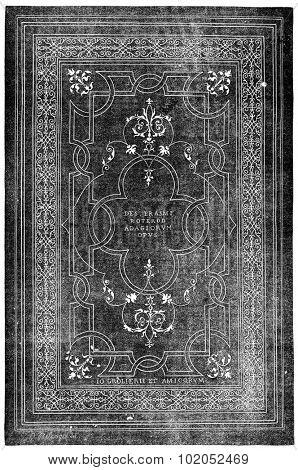 Grolier binding, vintage engraved illustration. Industrial encyclopedia E.-O. Lami - 1875.