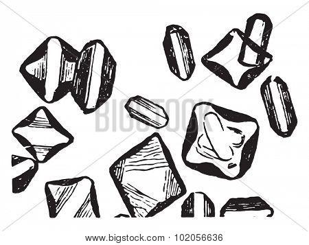 Magnesium phosphate, vintage engraved illustration.