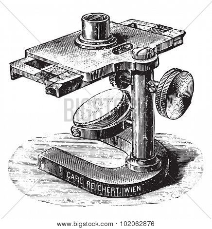 Gower's hemoglobinometer, vintage engraved illustration.