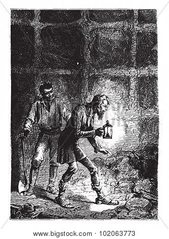 He began to browse the most secret corners, vintage engraved illustration. From 15 year's old captain book from Jules Verne - 1880