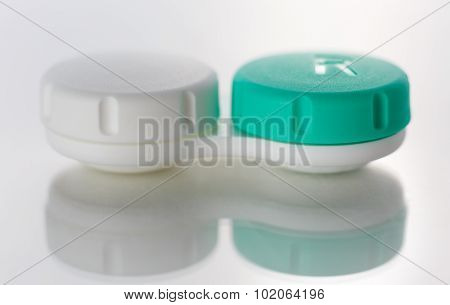 Contact Lens Case Isolated On White