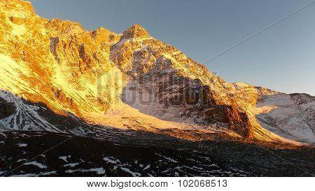 Illuminated Mt. Rincón 5364 masl