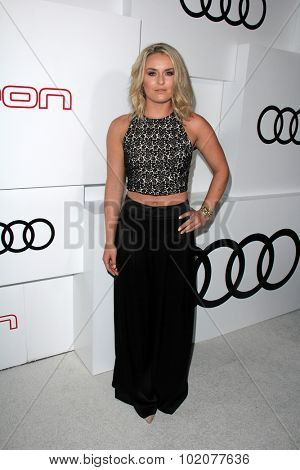 LOS ANGELES - SEP 17:  Lindsey Vonn at the Audi Celebrates Emmys Week 2015 at the Cecconi's on September 17, 2015 in West Hollywood, CA