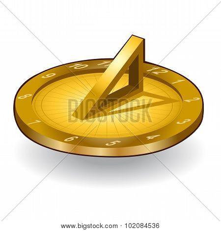 gold sun clock icon