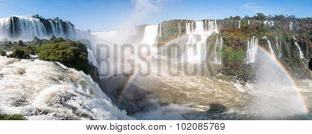 Iguacu (iguazu) Falls On A Border Of Brazil And Argentina