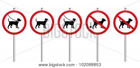 Dogs On Leads Muzzle Dirt Mandatory Sign