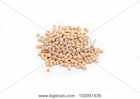 Chickpea Isolated Over White