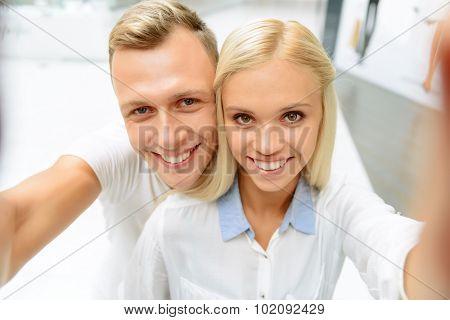 Nice couple making photos