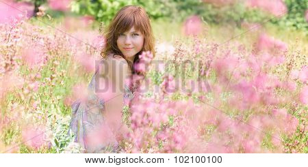 Woman in Flowers