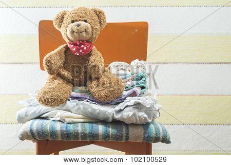 Teddy Bear In A Baby Room