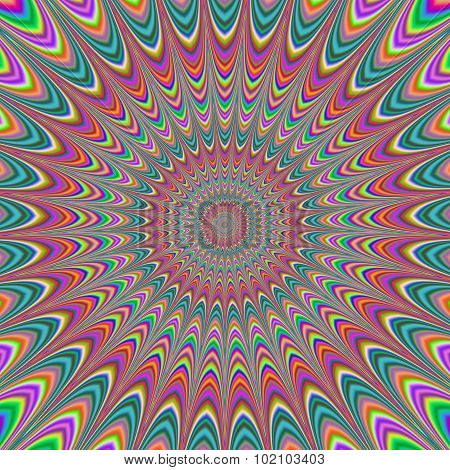 Fullscreen Generated Symmetrical Psychadelic Flower