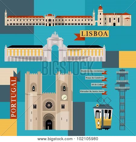 Sights Of Lisbon. Portugal, Europe.