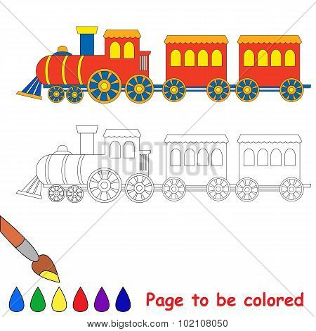 Toy red blue train