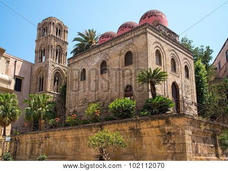San Cataldo Church In Palermo, Sicily.