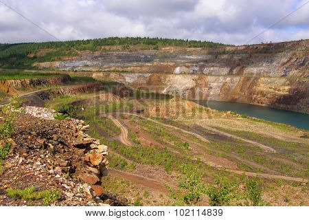 Photo of the Lifeless pond in a quarry