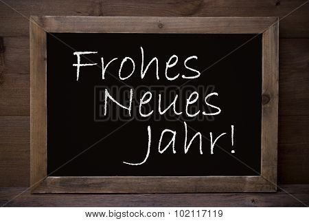 Chalkboard With Frohes Neues Jahr Means Happy New Year