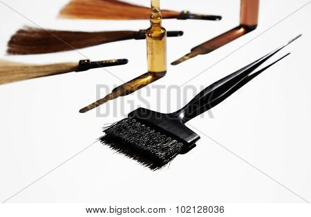 Hair Styling Tools Composition