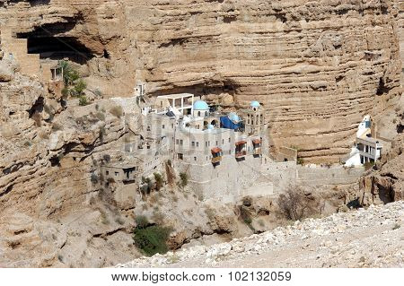 St. George's Monastery in Judea Desert Near Jericho Israel.