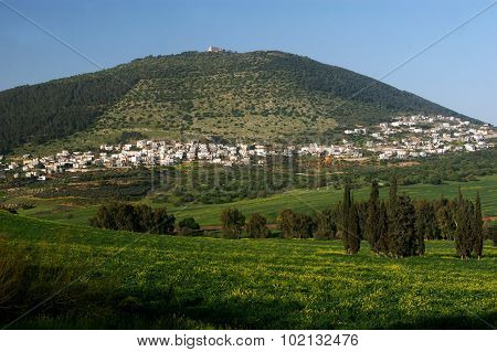 Landscape of Mount Tabor in north Israel.