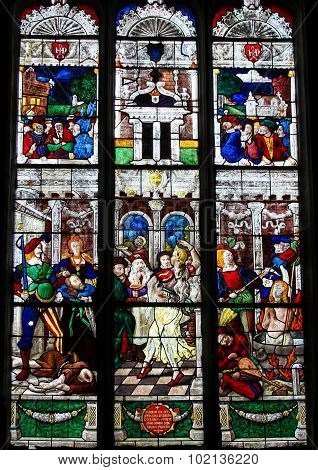 Stained Glass Of The Beheading Of St John The Baptist And The Dance Of Salome
