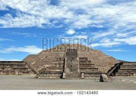 The pyramid of the moon in Teotihuacan Mexico.