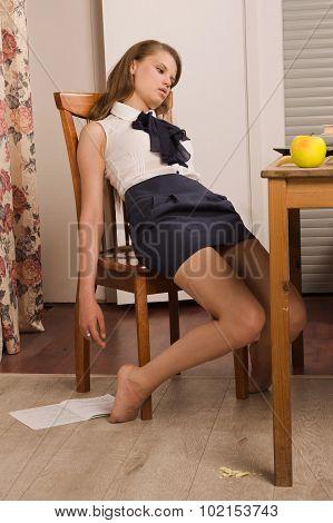 Lifeless College Girl