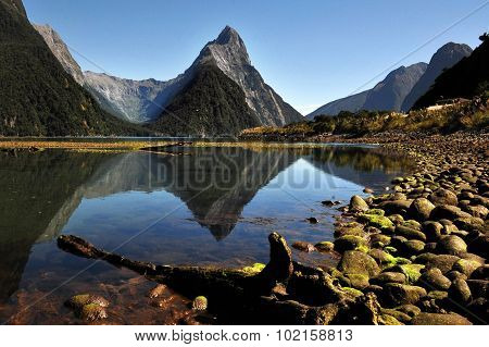 Mitre Peak, Fiordland, New Zealand