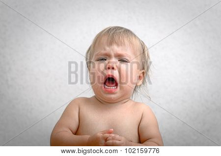 Roaring Crying Baby Portrait
