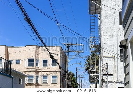 Wires And Power Poles