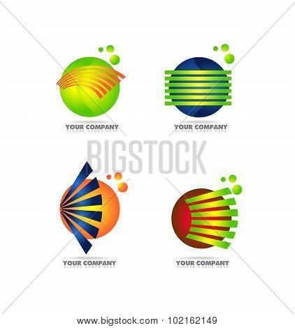 Sphere Logo Set Icon