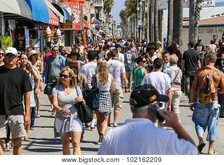Busy Venice Boardwalk