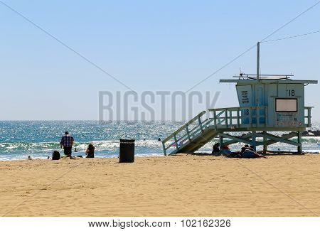 Lifeguard Station In Venice Beach
