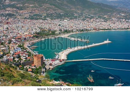 Alanya Bay And Red Tower
