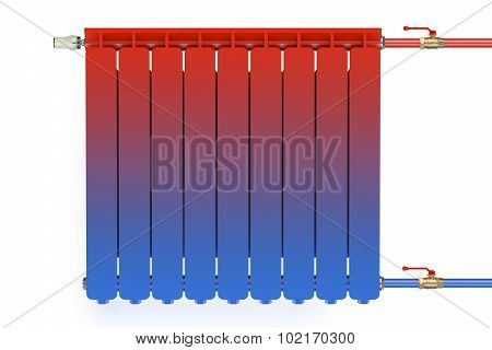Distribution Of Heat Flow In The Radiator
