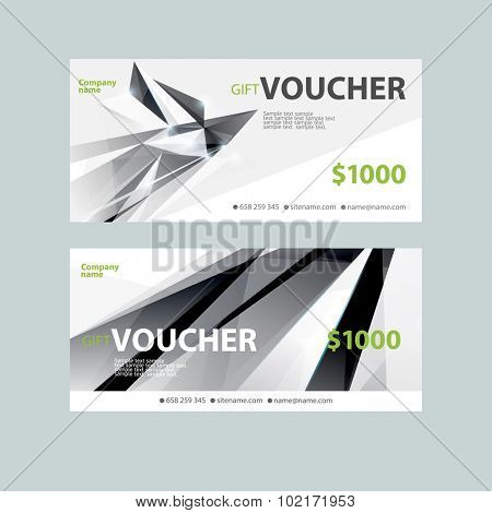 Template gift voucher. Modern design.